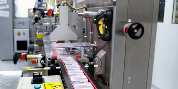High performance Datamatrix marking with 100% quality control at Bristol-Myers Squibb